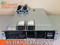 HP DL380p G8 8-Core Server 2x E5-2609 2.4GHz 128GB-8 4x 480GB SSD SFF RPS