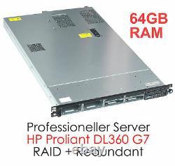 HP PROLIANT DL360 G7 SERVER 2x XEON X5650 6xCORE CPU 2,67 GHz 64GB DDR3 RAID SE4