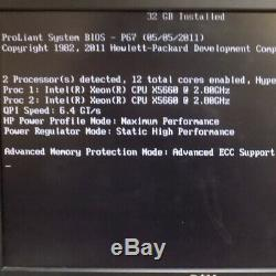 HP ProLiant DL380 G7 Server 2x Intel Xeon X5660 2.8Ghz 32GB 146GB SAS 10K