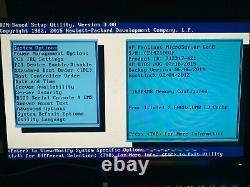 HP ProLiant Microserver G8 Gen8 Intel Xeon E3-1265L 2.5GHz 4c/8t 16 GB RAM