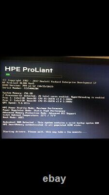 HP Proliant DL380 G9 Two Intel Ten Core Xeon E5-2687W v3 @ 3.1GHz 256GB RAM