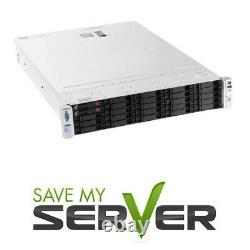 HP Proliant DL380e G8 Server / 2x E5-2440 2.4GHz = 12 Core / 64GB / 2x 250GB SSD