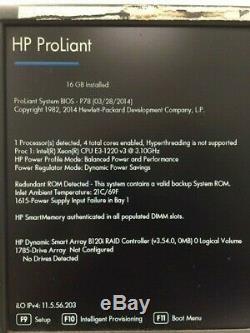 HP Proliant ML310E G8 V2 Server Tower, Intel Xeon 3.10GHz, 16GB Ram, No HDD